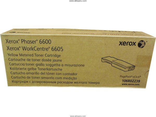▷ Toner Xerox 106R02239 Yellow Metered   Allin Internacional S A C