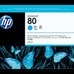Tinta HP 80 Cyan C4846A 350Ml