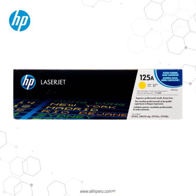 Cartucho de Toner HP 125A Amarillo CB542A 1.400 Páginas