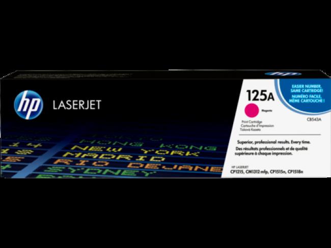 Cartucho de tóner HP 125A de color Magenta número de parte CB543A para imprimir con resultados excelentes
