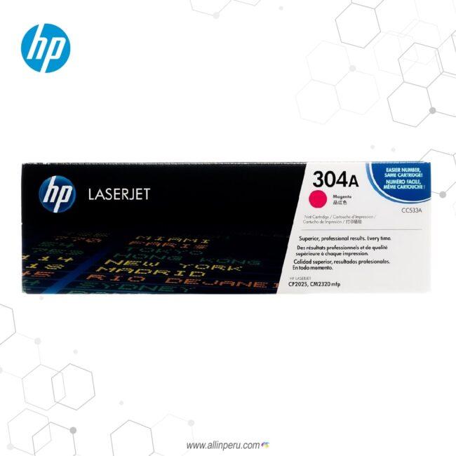 Cartucho de Toner HP 304A Magenta CC533A 2.800 Páginas