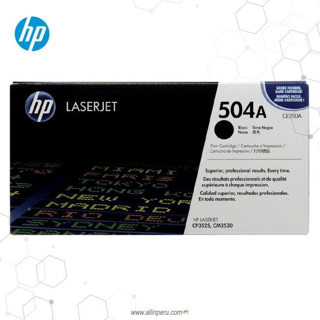 Cartucho de Toner HP 504A Negro CE250A 5,000 Páginas