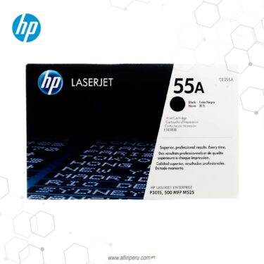 Cartucho de Toner HP 55A Negro CE255A 6,000 Páginas