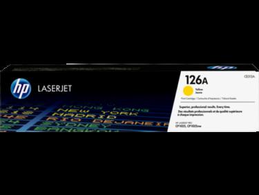 Cartucho de tóner HP 126A de color Amarillo número de parte CE312A para imprimir con resultados excelentes