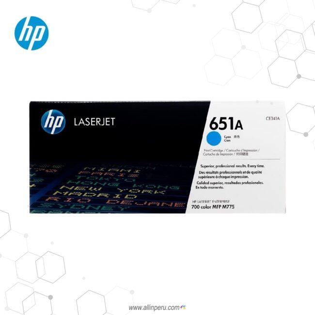 Cartucho de Toner HP 651A Cian CE341A 16,000 Páginas