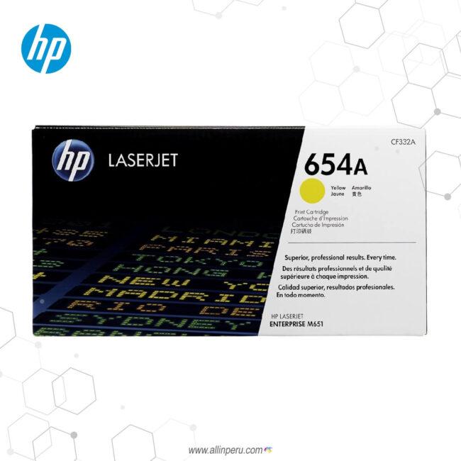 Cartucho de Toner HP 654A Amarillo CF332A 15,000 Páginas