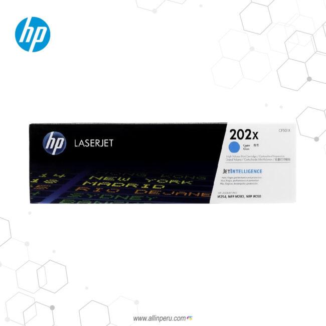 Cartucho de Toner HP 202X Cian CF501X 2.500 Páginas