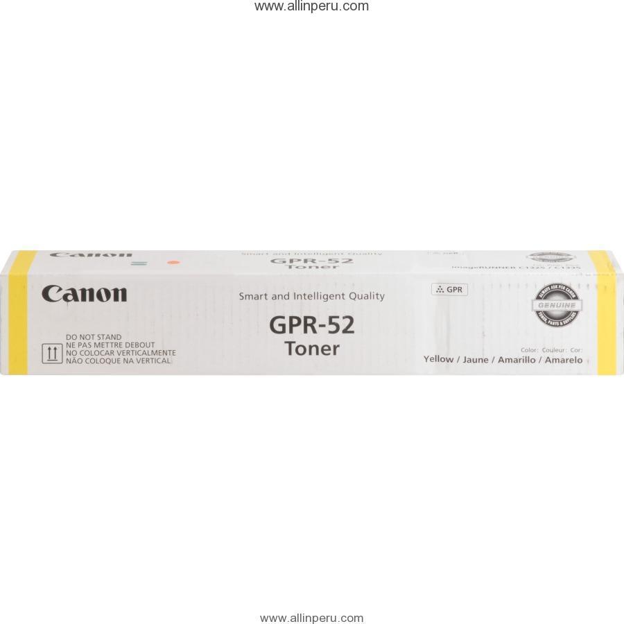 Toner Canon GPR-52Y Amarillo