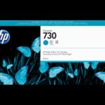 Tinta HP 730 Cyan P2V68A 300Ml