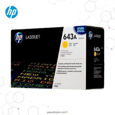 Cartucho de Toner HP 643A Amarillo Q5952A 10,000 Páginas