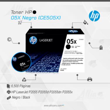 Toner HP 05X Negro (CE505X)