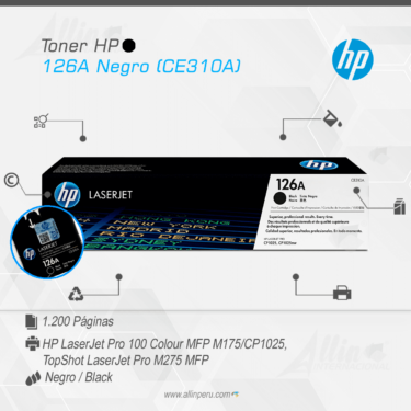 Original HP 126A Black CE310A LaserJet Toner Cartridge