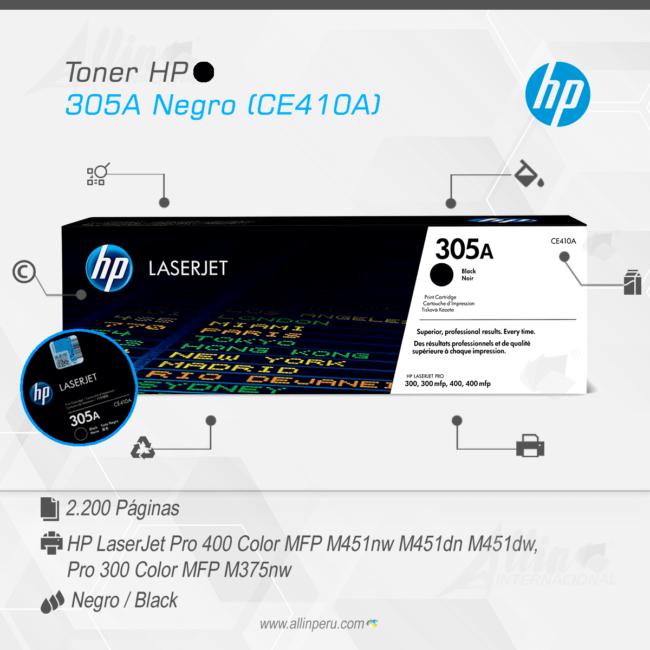 Toner HP 305A Negro (CE410A)
