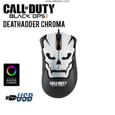 mouse gaming razer deathadder chroma call of duty ops i cable usb dpi 10000 5 botones black 3