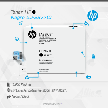Toner HP Negro (CF287XC)