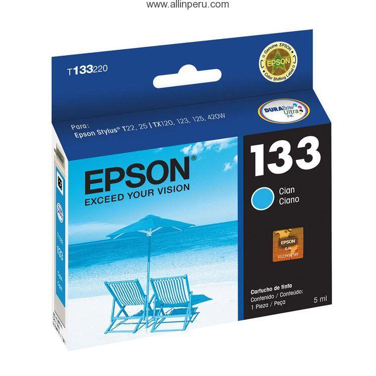 Tinta Epson T133220-AL Cian   133