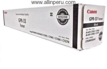Toner Canon GPR-33BK Negro