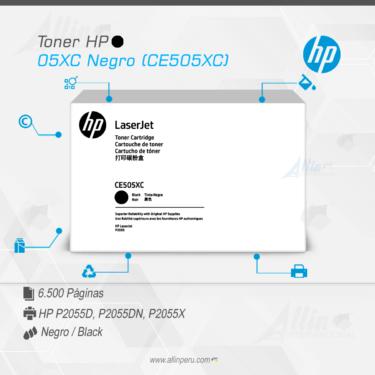Toner HP 05XC Negro (CE505XC)