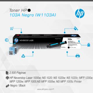 Toner HP 103A Negro (W1103A)
