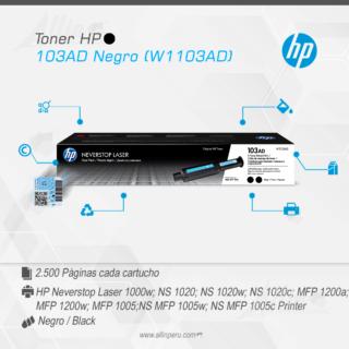 Toner HP 103AD Negro (W1103AD)