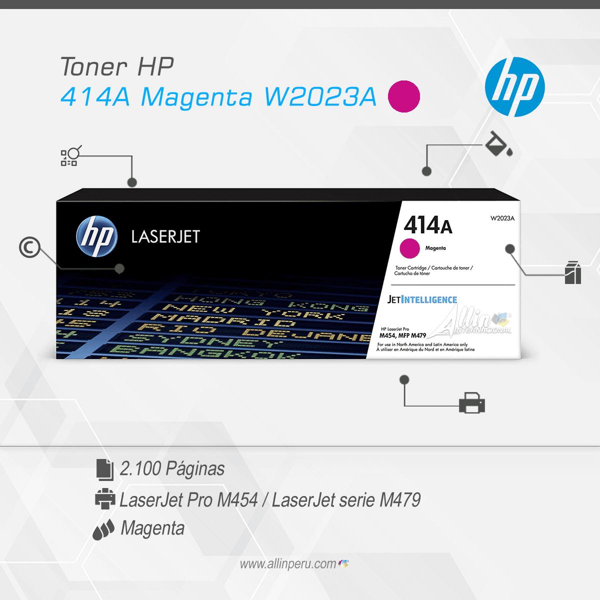 Toner HP 414A Magenta W2023A