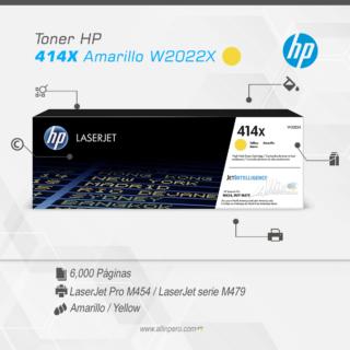 Toner HP 414X Amarillo W2022X