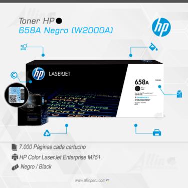 Toner HP 658A Negro (W2000A)
