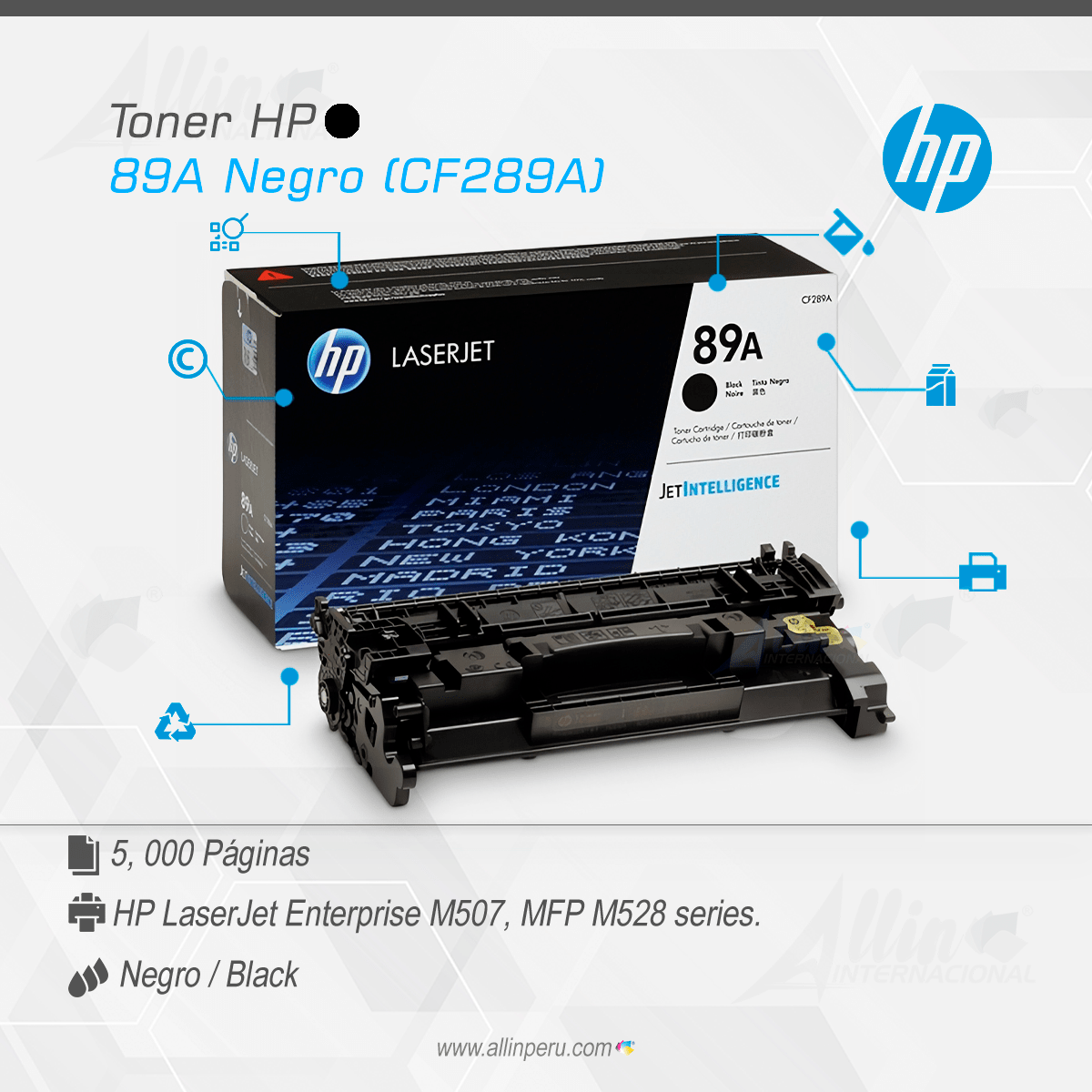 Toner HP 89A Negro (CF289A)-min