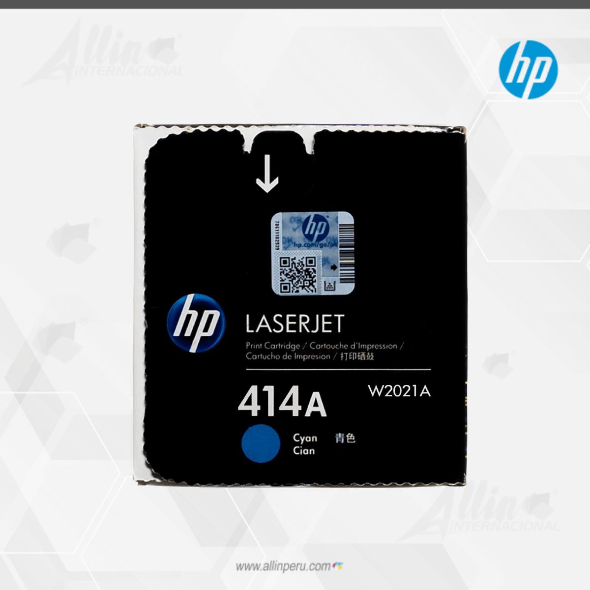 Toner HP 414A Cian W2021A