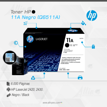 Toner HP 11A Negro (Q6511A)