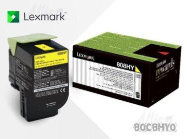 Toner Lexmark 808HY Amarillo - 80C8HY0 3.000 Páginas