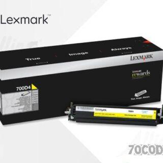 Toner Lexmark 700D1 Amarillo 70C0D40 40.000 Páginas Estándar Regular
