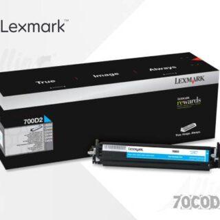 Toner Lexmark 700D1 Cyan 70C0D30 40.000 Páginas Estándar Regular