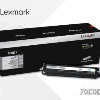 Toner Lexmark 700D1 Negro 70C0D10 40.000 Páginas Estándar Regular