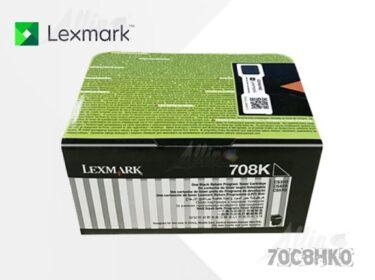 Toner Lexmark 708HK Negro 70C8HK0 4.000 Páginas Alto Rendimiento