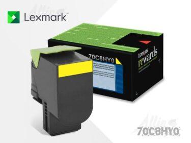 Toner Lexmark 708HY Amarillo 70C8HY0 3.000 Páginas Alto Rendimiento
