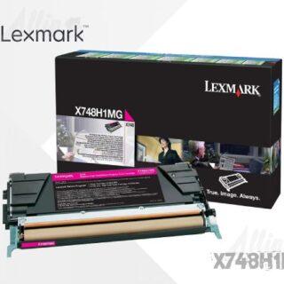 Toner Lexmark X748 Magenta X748H1MG 10.000 Páginas Alto Rendimiento