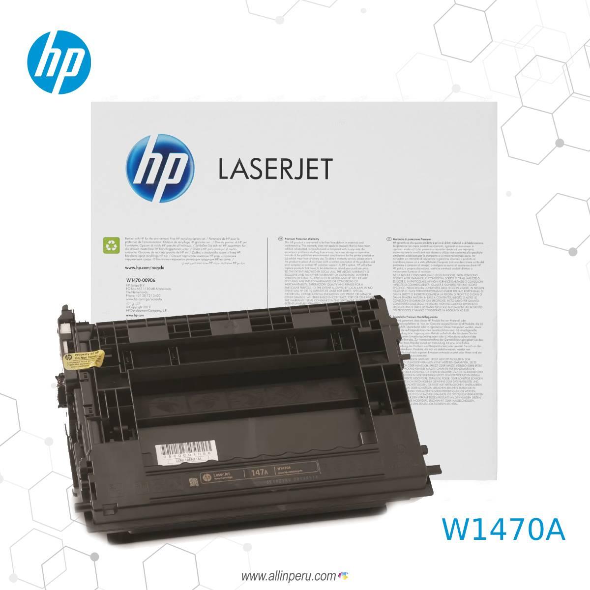 Toner HP 147a Negro W1470a 10500 Paginas 2