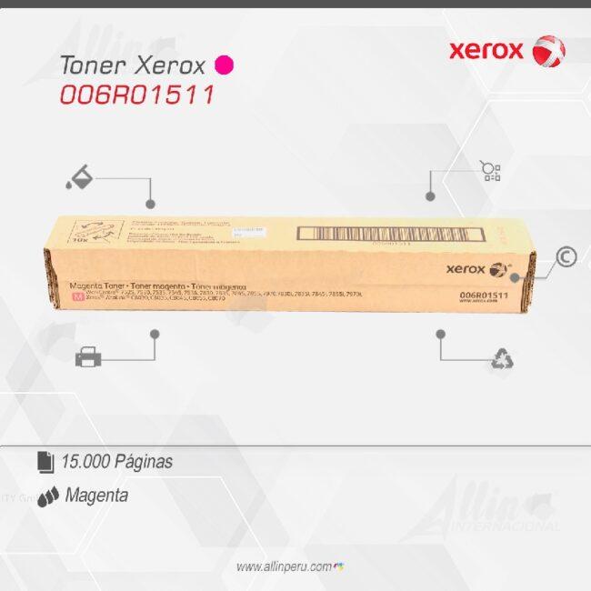 Toner Xerox 006R01511 Magenta 15.000 páginas