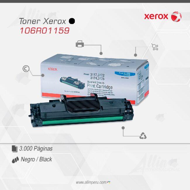 Toner Xerox 106R01159 Negro