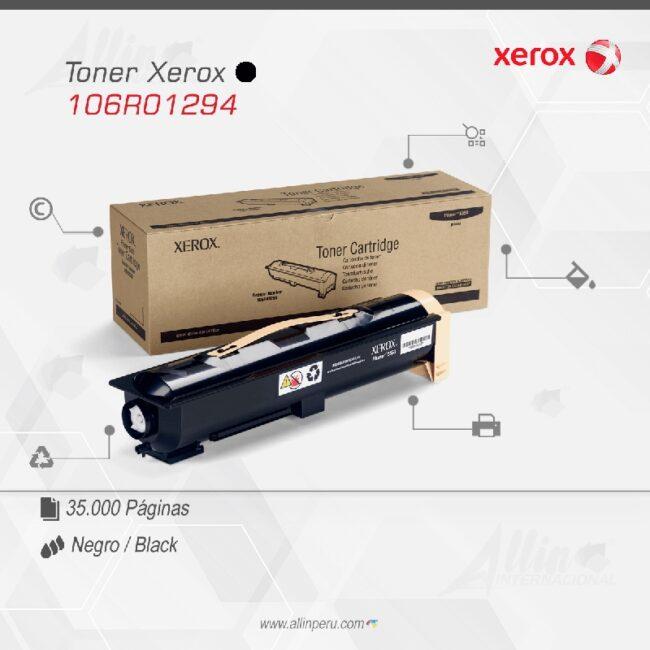 Toner Xerox 106R01294 Negro