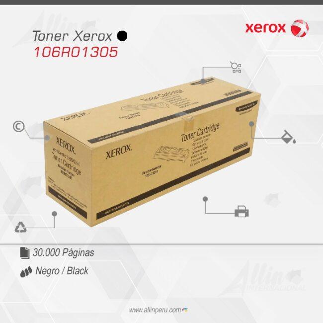 Toner Xerox 106R01305 Negro 30.000 páginas