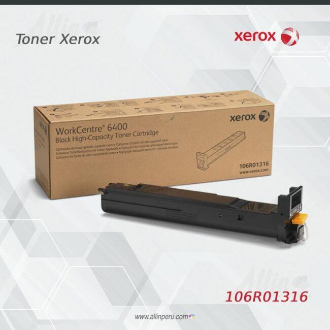Toner Xerox 106R01316 Negro