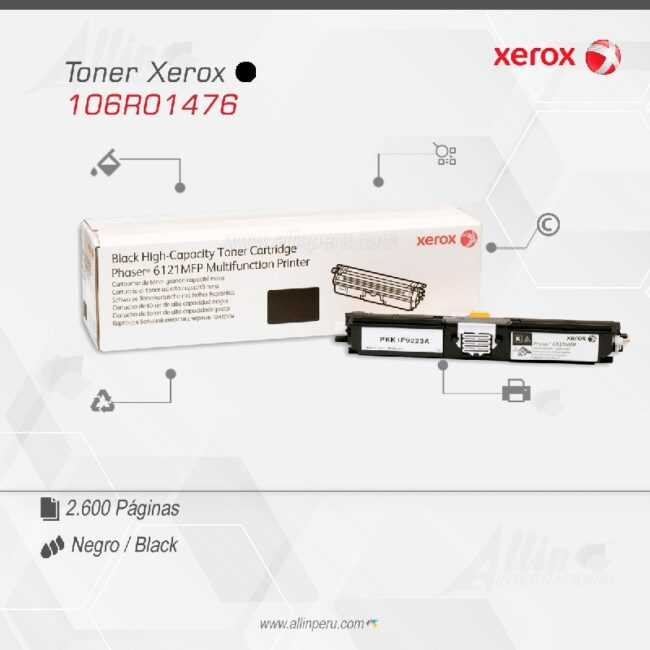 Toner Xerox 106R01476 Negro