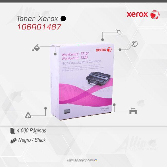 Toner Xerox 106R01487 Negro