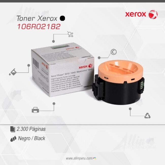 Toner Xerox 106R02182 Negro