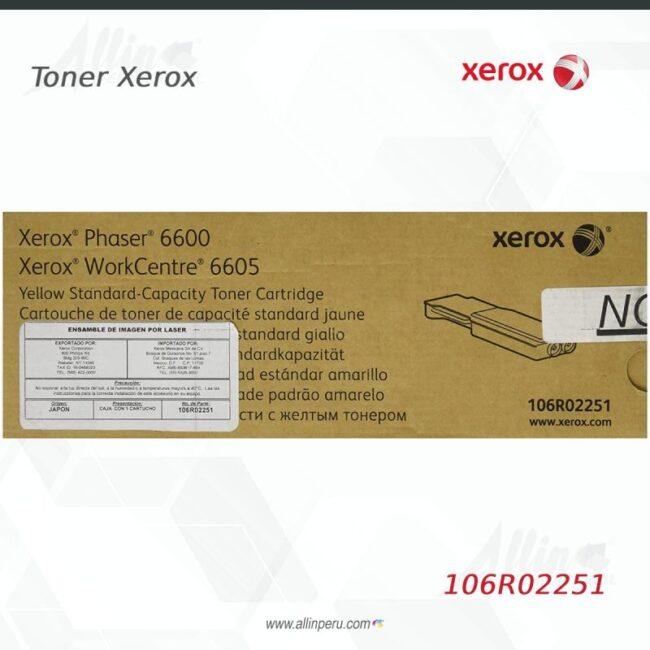Toner Xerox 106R02251 Amarillo