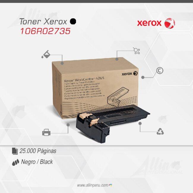 Toner Xerox 106R02735 Negro