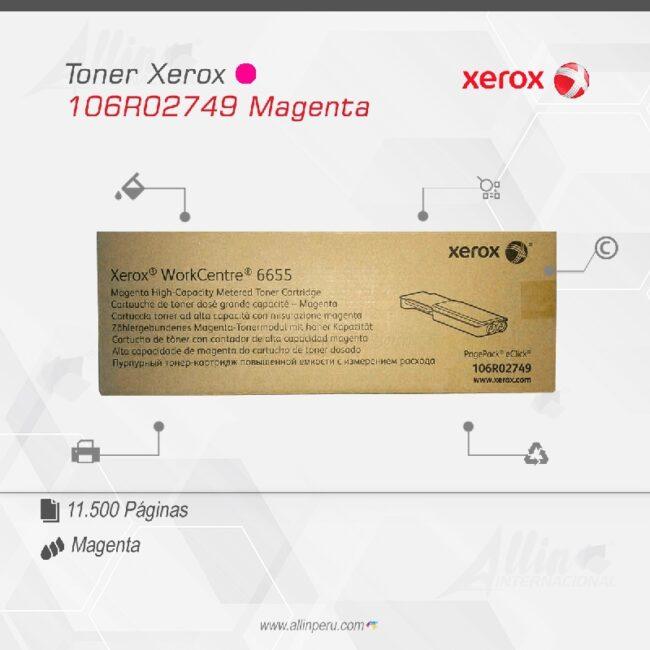 Toner Xerox 106R02749 Magenta