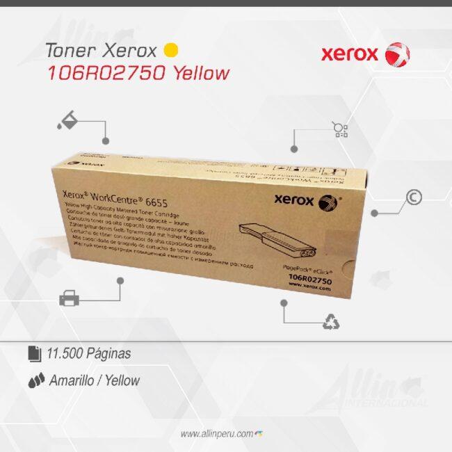 Toner Xerox 106R02750 Amarillo